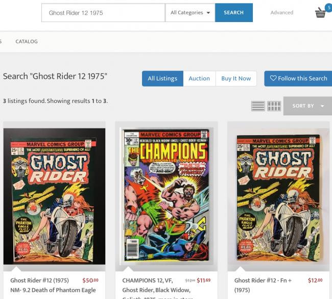 Search Ghost Rider 12 1975  HipComic